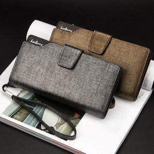 Image 5 - 2020 כרטיס מחזיק גברים ארנקים עסקי עור מפוצל ארוך עיצוב באיכות אופנה מזדמן גברים ארנק רוכסן רב פונקציה ארנקים