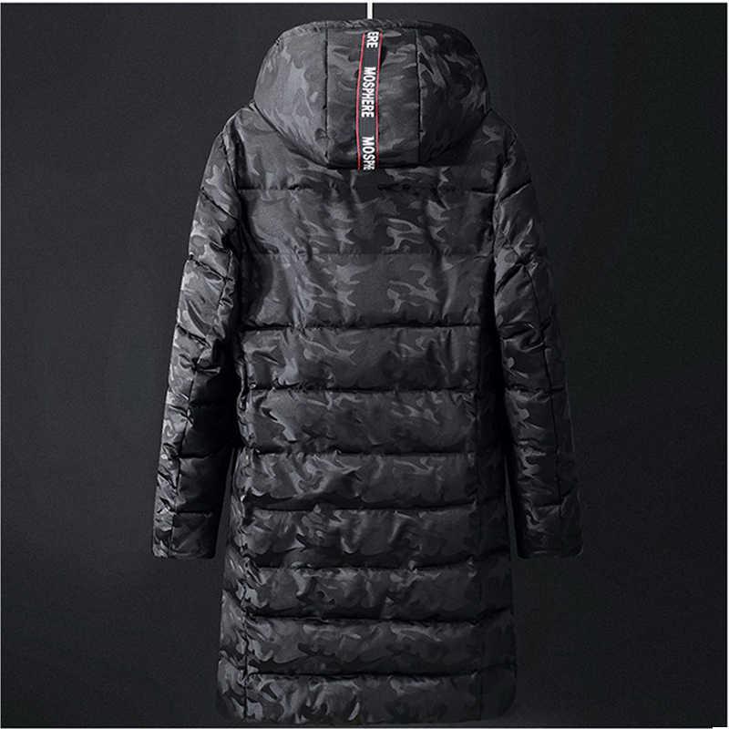 8XL 9XL 10XL Dicke Warme Jacke Parka Mann Frauen Baumwolle Padded Camouflage Lange Mantel Mit Kapuze Parkas Schwarz Plus Größe Winter outwear