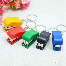 Mini Plastic Binder Mini Stapler Set Kawaii Stapler Stationary with 50pcs Staples RANDOM COLOR