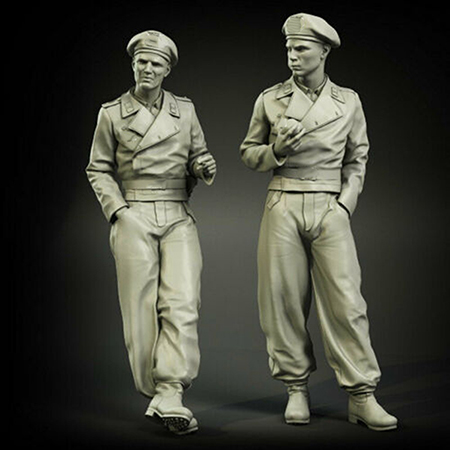 1/35  Ancient  Stand Warrior In Early War Period    Resin Figure Model Kits Miniature Gk Unassembly Unpainted