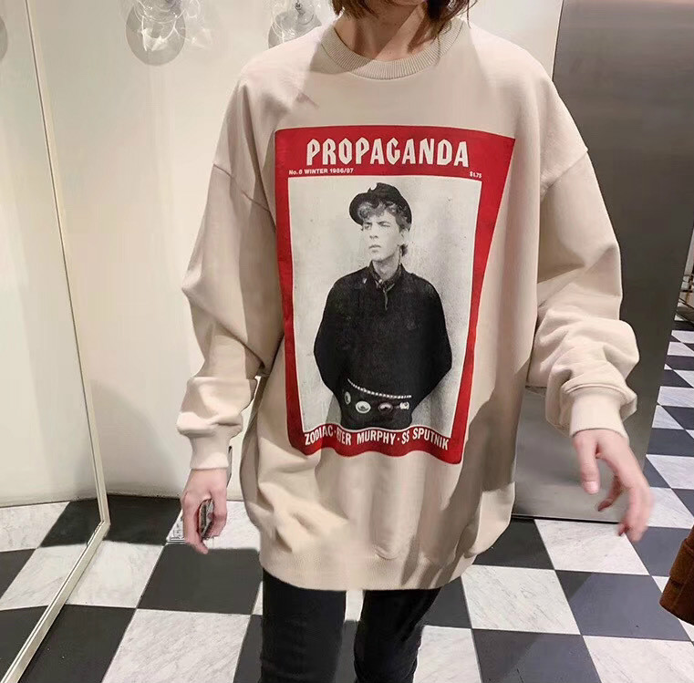 2020 Spring Head Portrait Poster Print Loose Round Neck Long Sleeve Sweatshirt For Men And Women Pullover A3