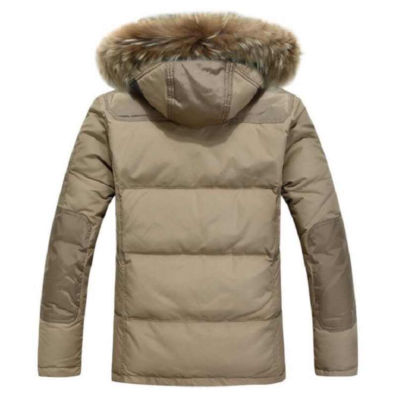 高品質男性の冬のジャケット厚い雪パーカーオーバーコートホワイトダックダウンジャケット男性ウインドブレーカーブランドダウンコートドロップ無料