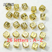 10 pieces letters beads cubic alphabets for jewelry making letters jewelry charm choose the letters after order 50268