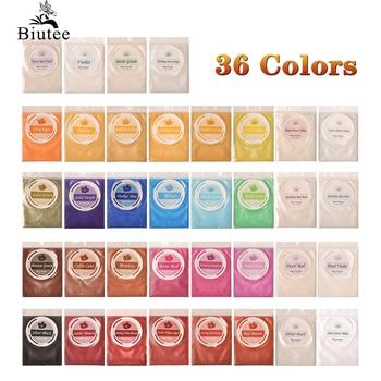 Biutee 10g Mica Powder Pigment Pure 30Color Nail Glitter Powder Pearl Epoxy Resin metallic Color Blush Nail Art Resin Soap Craft