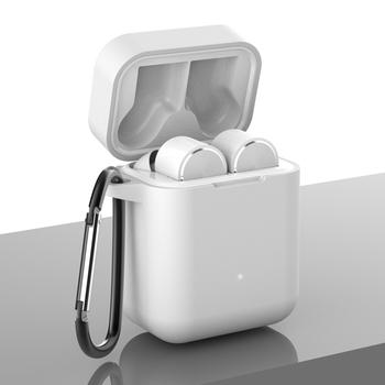 Silikonowe słuchawki obudowa do Xiaomi Airdots Pro odporna na wstrząsy pokrywa dla mi Airdots Pro TWS bezprzewodowy zestaw słuchawkowy Bluetooth etui z hakiem tanie i dobre opinie VIGENCIA Etui na słuchawki For Xiaomi Airdots Pro Z tworzywa sztucznego Drop resistance Anti-Dust As Per Pictures Support