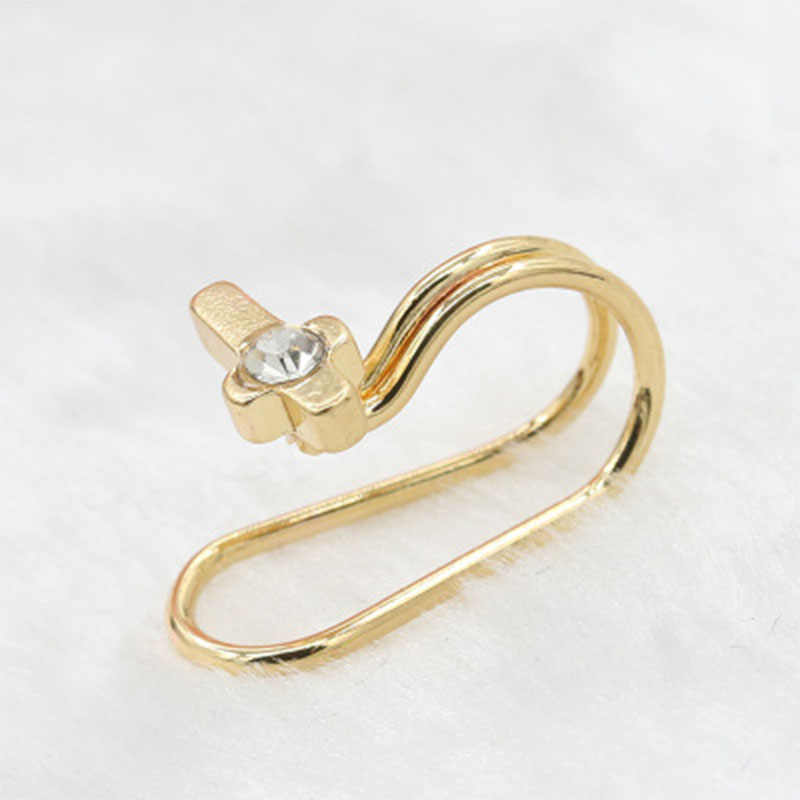 Clipe de cristal pérola simples no brinco estrela coração lua clipe de orelha brincos de manguito para mulheres moda jóias presentes bijoux brincos 209