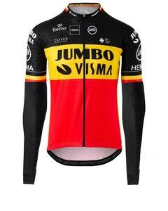 2020 весна осень pro team jumbo visma желтый Велоспорт Джерси мужская Тонкая велосипедная ткань MTB Ropa Ciclismo велосипед maillot длинный рукав