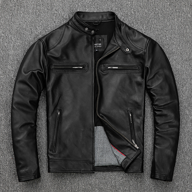 Free Shipping.classic Casual Style,Plus Size Soft Sheepskin Jackets,men Genuine Leather Jacket.motor Biker Leather Coat,sales