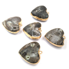 Natural Semi-precious Stones Pendant Hearts Agates Charms Pendants for Jewelry Making DIY Necklace Accessories Size 20x38mm 2020 natural shells pendants charms for jewelry making necklace pendant diy bracelet necklaces accessories size 20x32mm