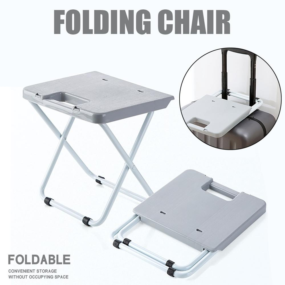 Foldable Stool Portable Plastic Small Chair Household Folding Chair Bench Camping And Hiking Supplies @f