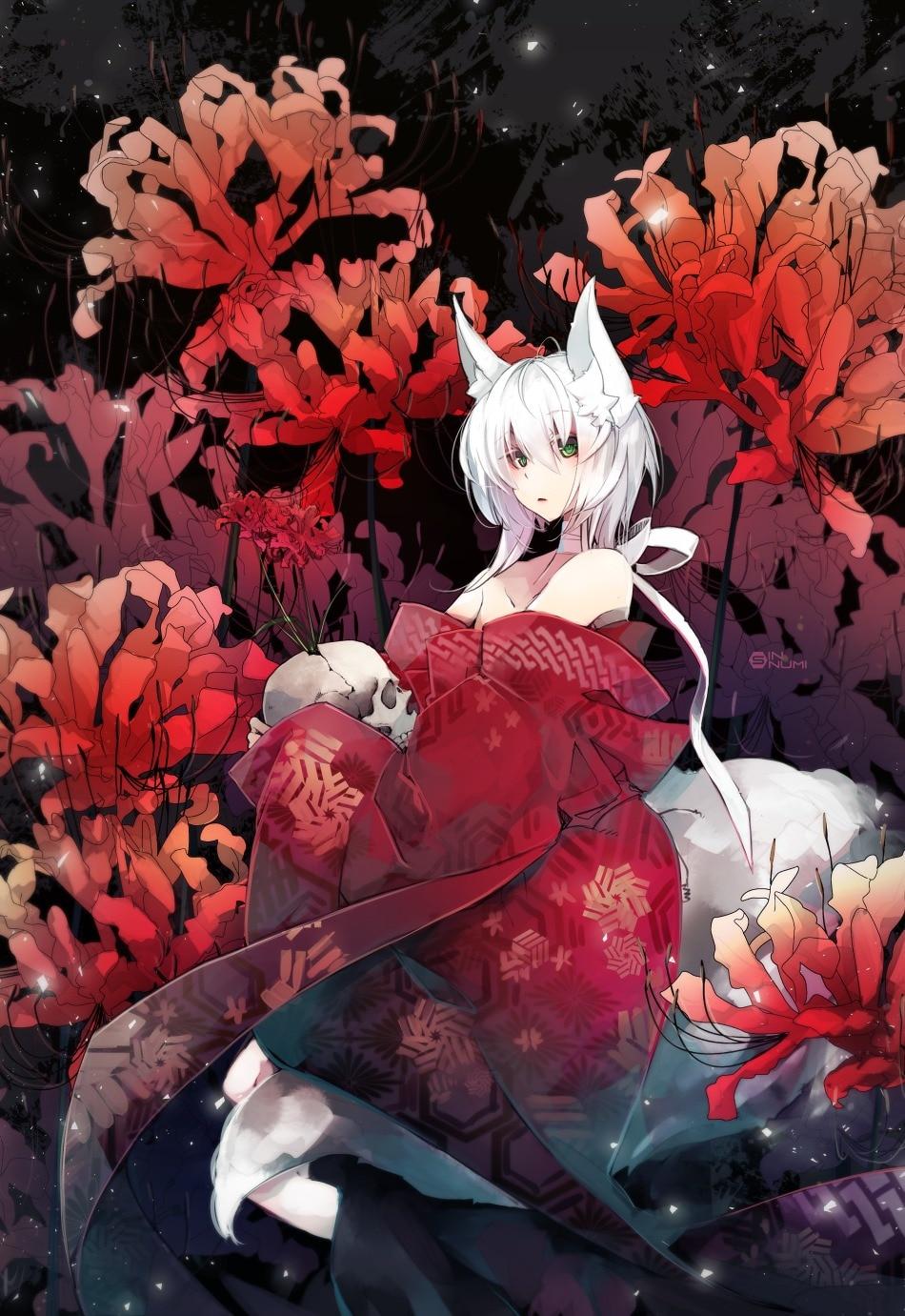 【白毛兽耳娘】日本画师 ぬみ-Sin二次元少女插画作品赏析_图片 No.12
