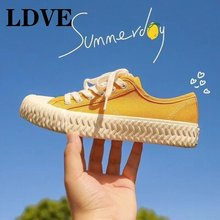 2019 Autumn New Fashion Candy Color Women Casual Shoes Canvas Woman Flats Solid Sneakers