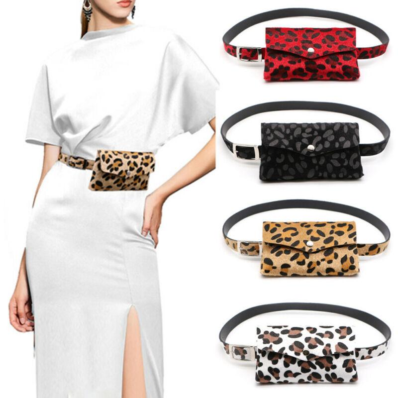 Leopard Waist Bag For Women Sports Belt Bags Fashion Small Chest Handbag Unisex Travel Waist Bags Portable Belly Phone Pack
