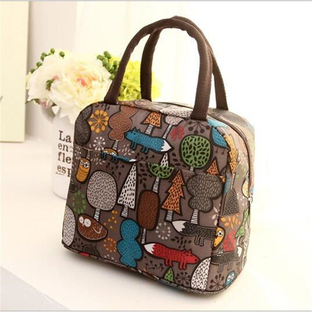 2020 New Style Cartoon Printing Portable Lunch Thermal Insulated Box Tote Cooler Bag Bento Pouch Lunch Storage Case Lunchzak