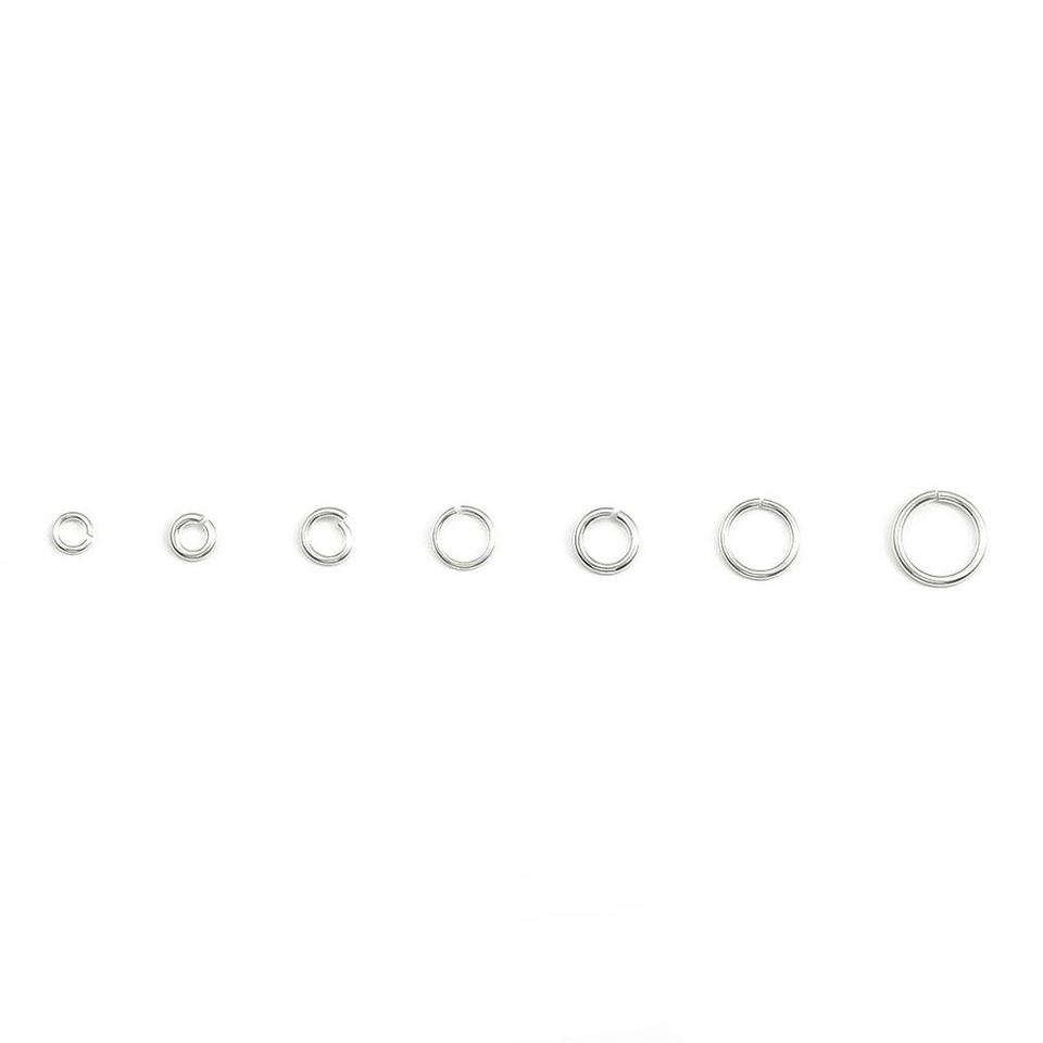 925 Solid Sterling Silver Jump Rings Ring Charms Pendants 3 4 5 6 7 8 9 10 mm