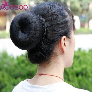 Костюм булочки для волос яблоко шиньоны яблоко булочки для волос Ретро шарики для волос булочки, аксессуары для волос невесты 2 цвета натура...