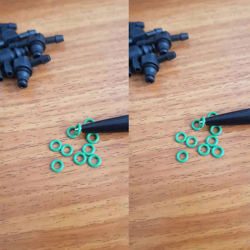 ERIKC возвратного масляного обратного T и L Тип для Bosch 110 серии дизель CR Запчасти Топливная форсунка Пластик 3 двухсторонняя Соединительная труба 10 шт./пакет - Цвет: 20pcs Rubber O-ring