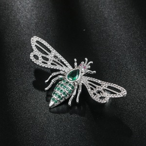 WEIMANJINGDIAN 2020 New Arrival High Quality Cubic Zirconia CZ Crystal Insect Bee Brooch Pins for Women(China)