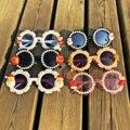 Милые детские солнцезащитные очки от 4 до 12 лет с жемчужинами, круглые солнцезащитные очки UV400, рождественские детские очки, яркие детские оч...