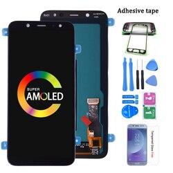 Oryginalny super amoled do SAMSUNG Galaxy A6 2018 A600 A600F A600FN wyświetlacz LCD z montaż digitizera ekranu dotykowego|Ekrany LCD do tel. komórkowych|Telefony komórkowe i telekomunikacja -