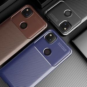 Carbon Fiber Phone Case For Google Pixel 4a Cases Soft TPU Matte Bumper on For Google Pixel 4 3A XL Cover Fundas Skin Shell Hood