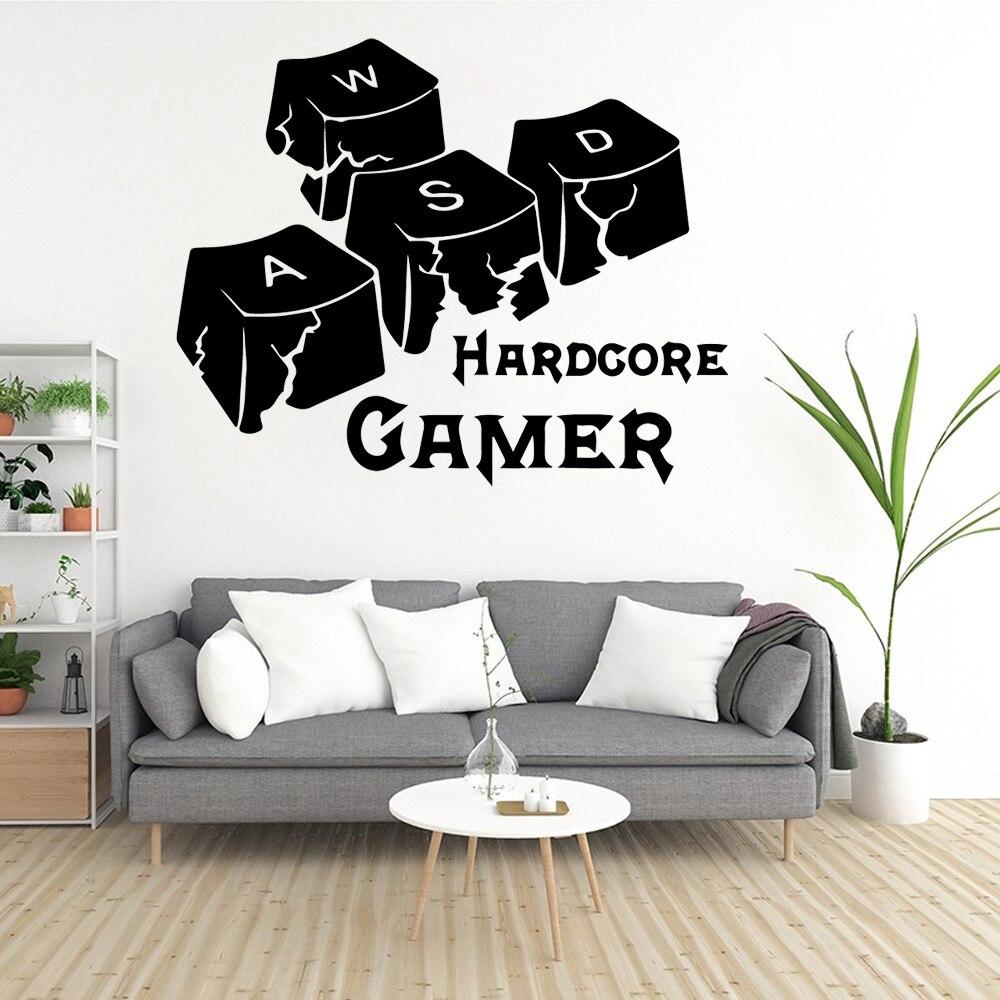 The Hardcore Gamer Wall Sticker inambazaar.com