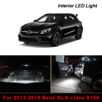 15Pcs Error Free Car Interior LED Lights Kit For 2013-2018 Benz GLA-class X156 Footwell Dome Map Trunk Door Vanity Mirror Light image