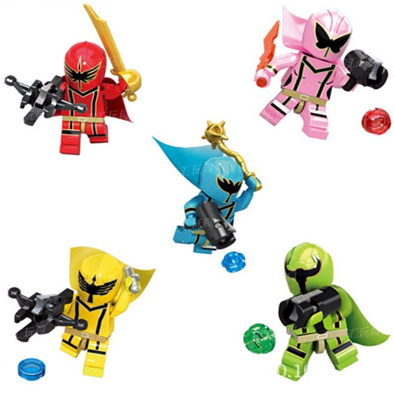 KSZ 313 Super Warrior Magic Team XSZ Puzzle Toy Building Blocks Assembled Power Rangers Box In Bags
