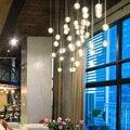 FSS хрустальный шар подвесные светильники для лестницы люстры подвесной светильник светодиодный AC 110V 220V спальня кухня Остров кристальный блеск