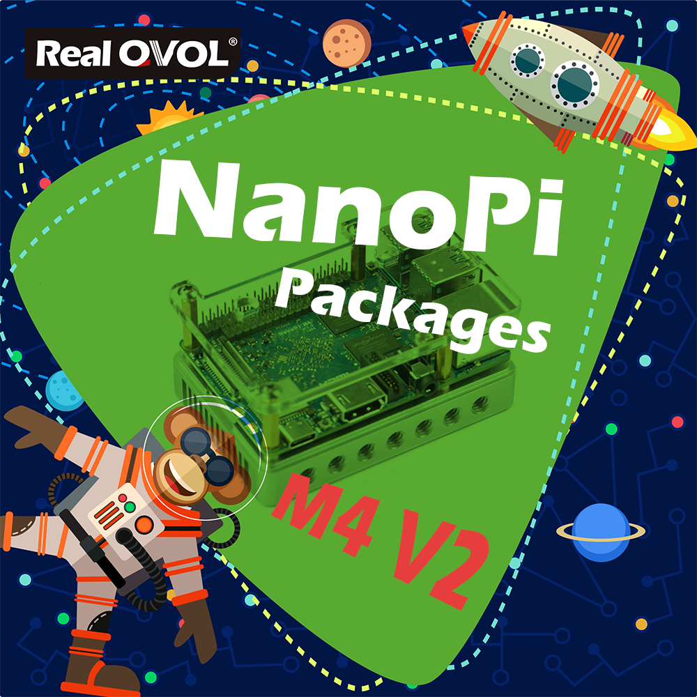 RealQvol FriendlyARM NanoPi M4V2 4GB Kit Package Rockchip RK3399 2.4G&5G Dual-bandhas Ports Interfaces Compatible With RPi B3+