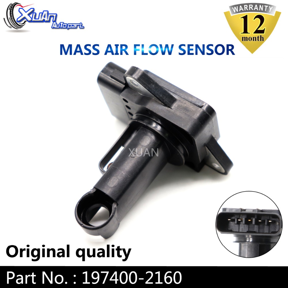 New Mass Air Flow Meter Sensor 197400-2160 L321-13-215 for Mazda 2 5 6 CX-7 MX-5