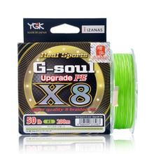YGK G SOUL X8 שדרוג צמת דיג קו 150M 200M סופר חזק 8 גדילים Multifilament PE קו יפן 14LB 16LB 22LB 60LB Pesca