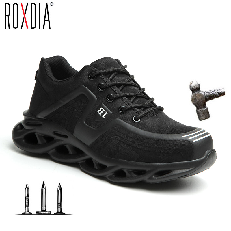 Drop shipping Steel Toe Work Shoes Fashion for Men Women Sneaker Ultralight Mesh Industial Safety shoes Plus size 37-48 RXM179