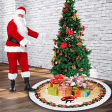 Creative Reindeer Christmas Tree Skirts Fur Carpet Xmas Decoration New Year Home Outdoor Decor Event Party Tree Skirts 98CM
