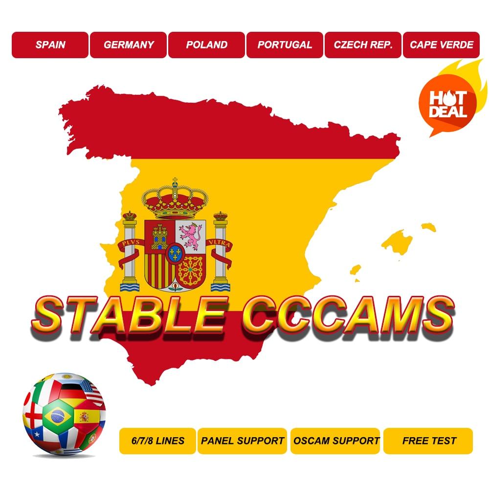 Stable CCcams Poland 4K Spain HD Germany Portugal Server Germany Sky Oscam  Decoder Europa DVBS2 Europe Cape Verde HD+