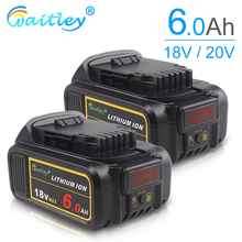 Witley DCB200 18V 6Ah replaceable Li-ion battery compatible with Dewalt 18 Volt MAX XR power tools lithium Batteries