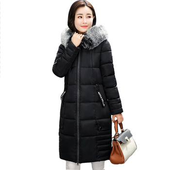 High Quality 2018 New Winter Jacket Women Hooded With Fur Warm Thicken Cotton Padded Women's Jackets Female Coat Long Parka фото