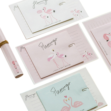 1Pcs/lot 6 style pink white Flamingo  Love letter Paper Envelope fashion Gift Craft post vitations for office school