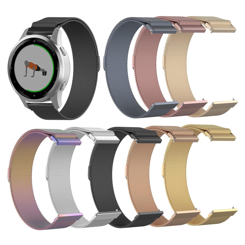 Stainless Steel Watch Strap For Garmin Vivoactive 4S/4 Watch 18/22mm Watchband Bracelet Strap For Garmin Vivoactive 4 22mm