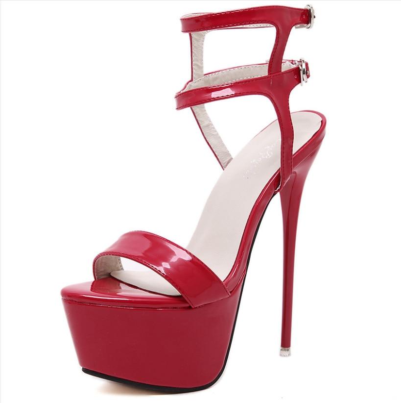 Women High Heels Sandals 16cm Sexy Stripper Shoes Party Pumps Shoes Women Gladiator Platform Sandals Size Women High Heels Sandals 16cm Sexy Stripper Shoes Party Pumps Shoes Women Gladiator Platform Sandals Size 35-46 CWF-my166-2