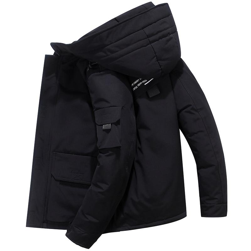 2019 hiver nouveau 80% canard vers le bas veste hommes affaires mode chaud épais court paragraphe bas prix discount manteau mâle marque vêtements