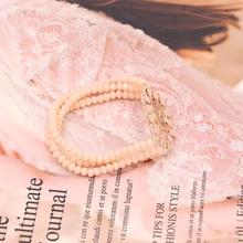 Pulseras Bracelet for Women Fashion Bohemian Charm Letter Brand Crystal Bracciali Donna
