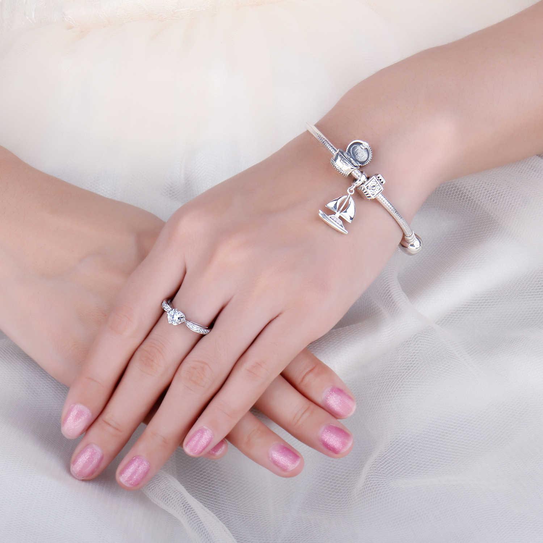 JewelryPalace Винтаж 925 пробы серебро открываемые шкатулка из бисера Шарм Fit Браслеты модные женские туфли DIY бусы