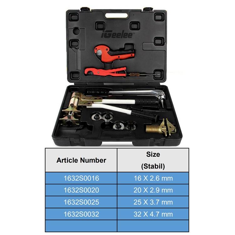 IGeelee RU/ES склад Pex Зажимные инструменты PEX-1632 диапазон 16-32 мм используется для REHAU системы с гибкой/воды и Stabil типа штампов - Цвет: for stabil pipes