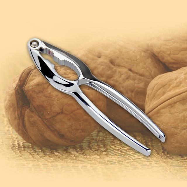 1pc Zinc Alloy Nutcracker Sheller Walnut Nut Cracker Quick Walnut Almond Pecan Nutcracker Kitchen Fruit Tool Accessories