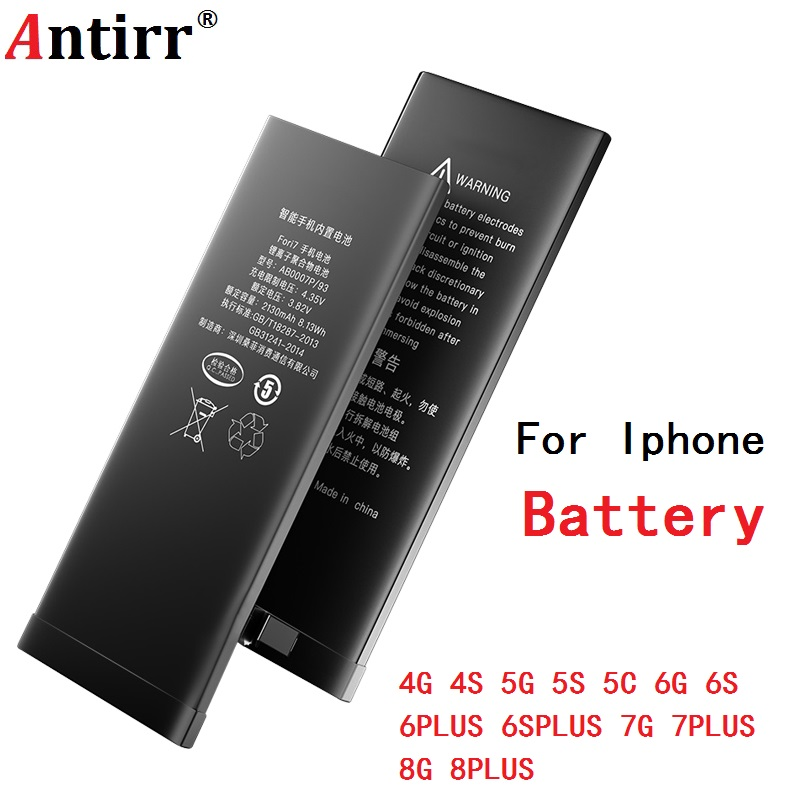 Quality Phone <font><b>Battery</b></font> for iPhone 6S 6 5S 5C 5G 5 <font><b>3gs</b></font> 4S 4 7 7PLUS 8 8PLSU 6PLUS 6S PLUS Real Capacity Zero Cycle Free Tools image
