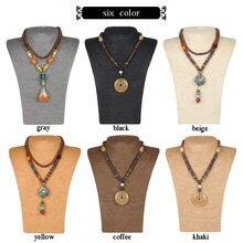 Collier de Mannequin en corde pour femmes, 6 couleurs, support de buste, buste, présentoir de bijoux, support d'étagère, L23 * W13 * h36 cm, prix de gros