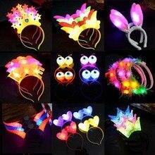 Headband Concert Wedding-Supplies Light-Up Crown Led-Flashing Glow Party Wreath Heart