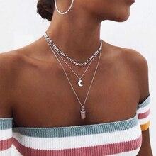 Hot sale Hexagonal Column Quartz Necklaces Pendants Fashion