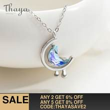 Thaya s925 Silver Water In The Moon Necklace Blue Moon Bohemia Women Choker Necklace for Women Jewelry Gift(China)